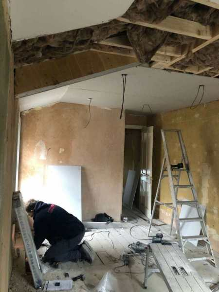 Under construction, whole house renovation in Peckham, London
