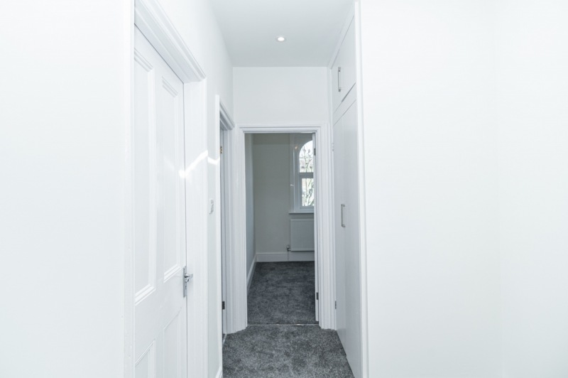 Corridor and bedrooms on the first floor, Peckham, London