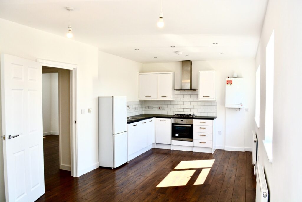 Open plan kitchen and leaving room