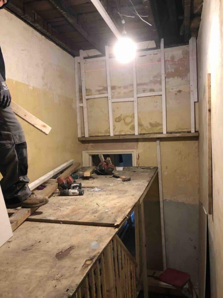 Under construction, whole house renovation in Peckham, London