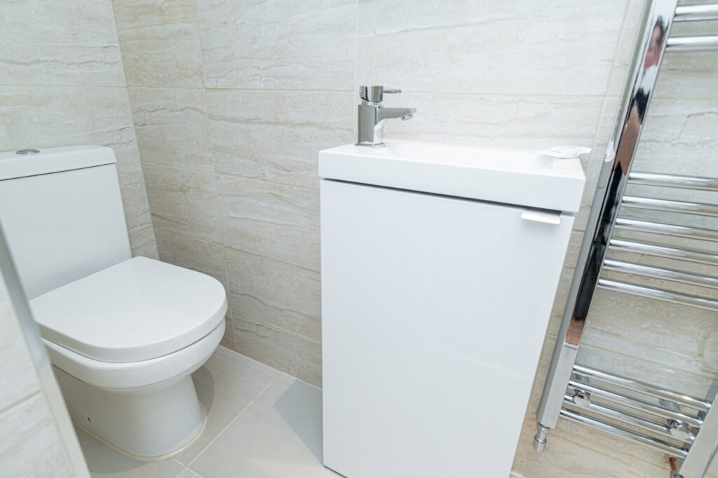 Shower room renovation, Peckham, London