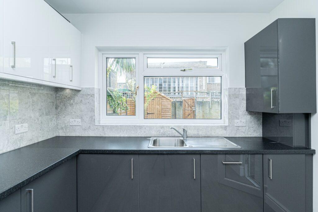 Open plan kitchen, Peckham, London