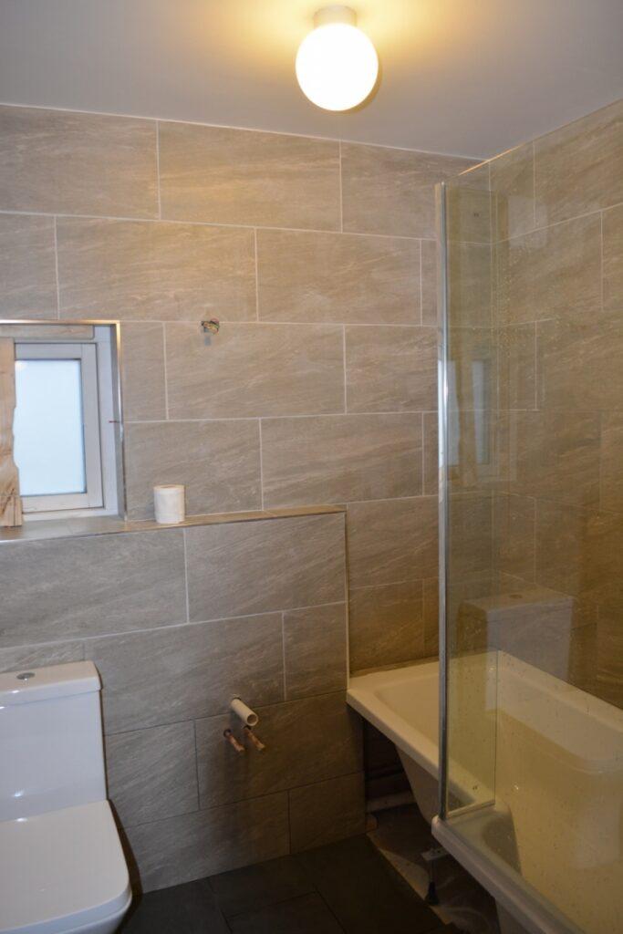 Bathroom renovation under way