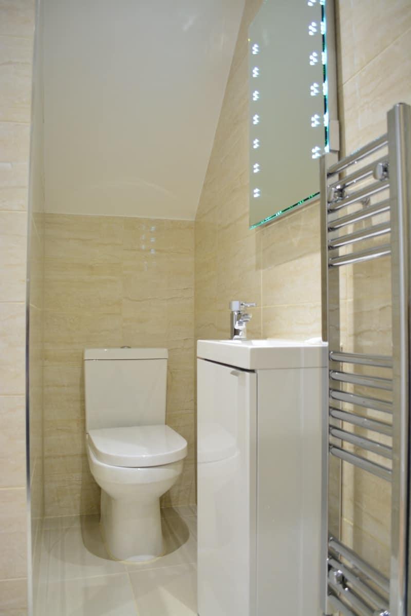 Shower room renovation in Peckham