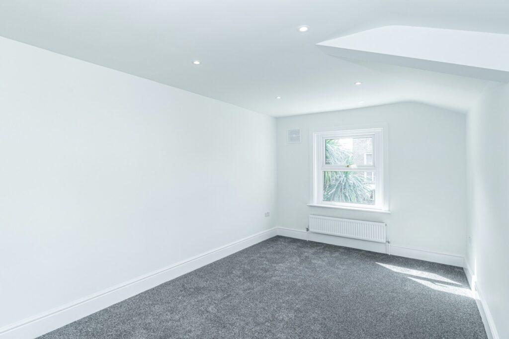 Open plan double bedroom renovation, ground floor, Peckham, London