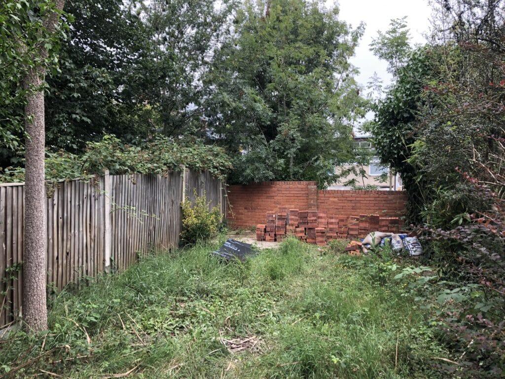 Garden renovation, first entrance